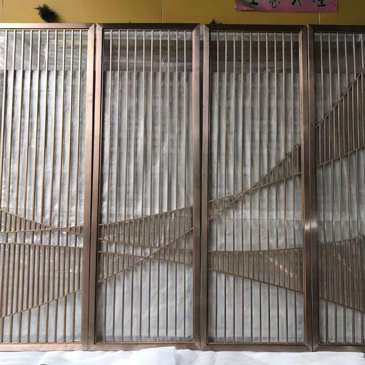 铝板镂空 铝浮雕壁画 餐厅卡座不锈钢隔断 佛山不锈钢屏风厂家定制 铝制屏风