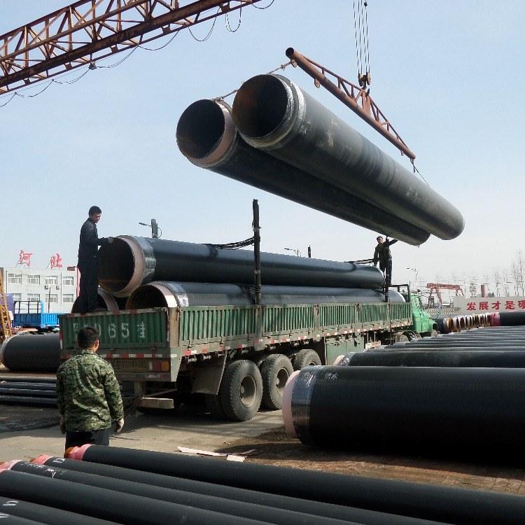 直埋保温管道厂家直销/黑夹克预制直埋保温管/预制聚氨酯钢管