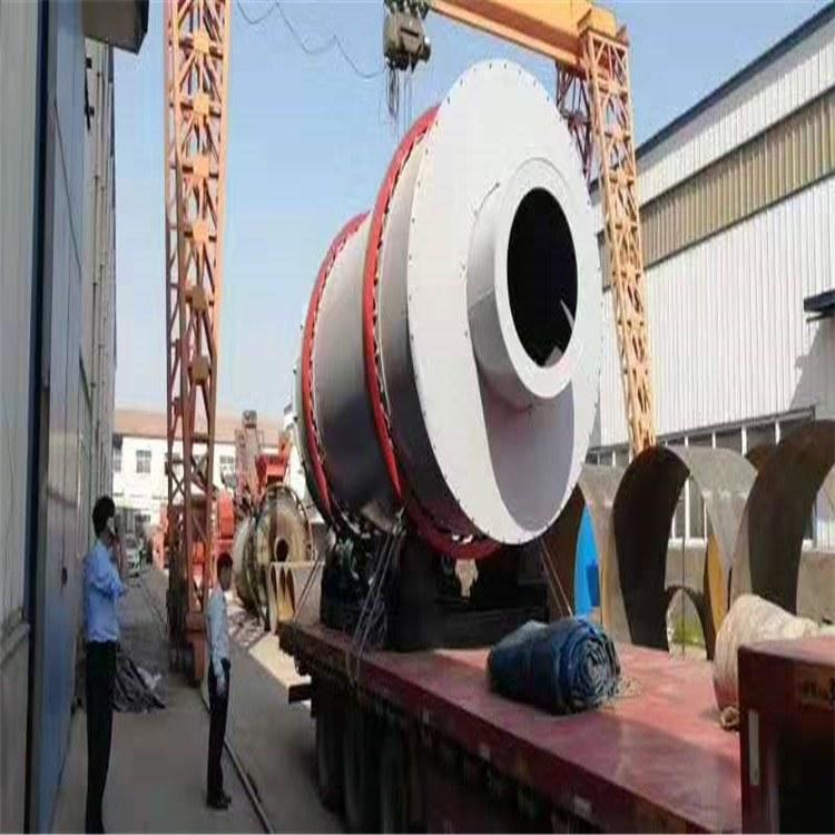 供应高效三筒矿渣烘干机 三回程滚筒烘干机 黏土干燥机