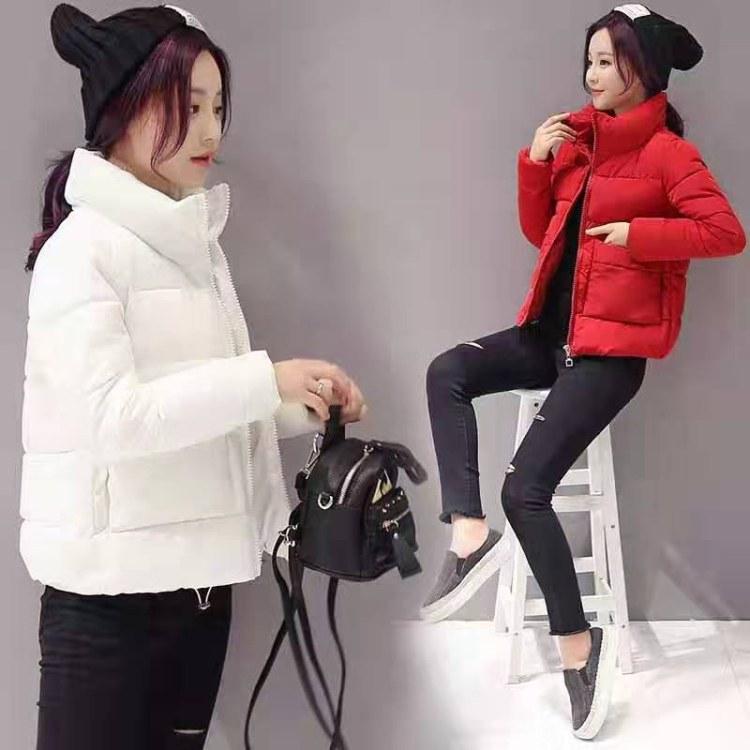 棉服女走量批发2019新款棉衣韩版修身中长款棉服女装加厚冬季外套棉袄