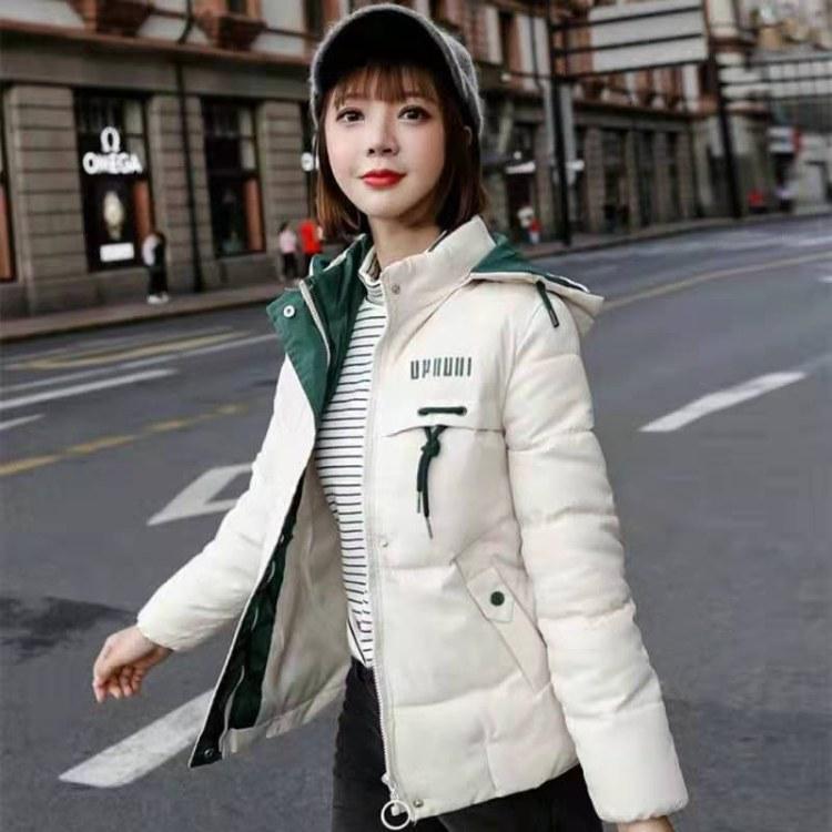 批发市场大量批发棉服女2019新款棉衣韩版修身中长款棉服女装加厚冬季外套棉袄