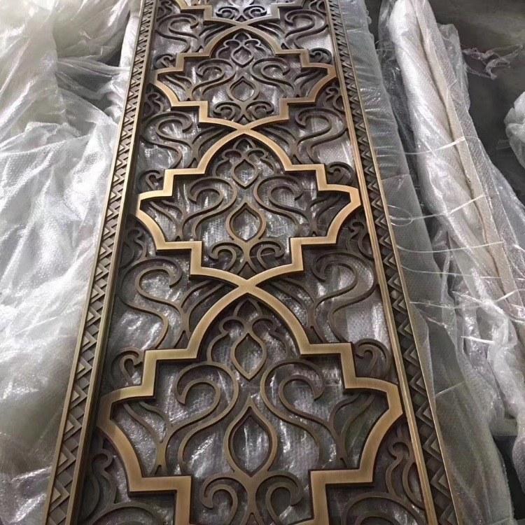 家装简约不锈钢屏风隔断 精美不锈钢制品 佛山屏风厂家 铝制品