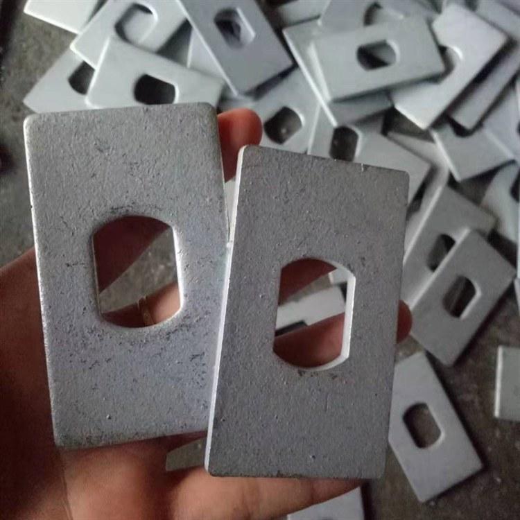 厂家直销  粉末镀锌横梁垫片  喷塑长方形垫片 3.0厚生产