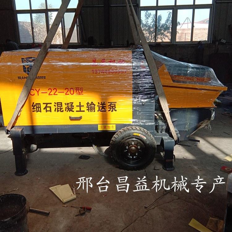60型细石砂浆水泥输送搅拌一体机农村小型混凝土输送泵车载柴油机