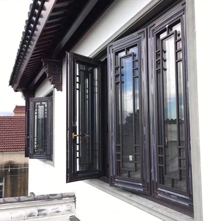 巴森门窗中式铝合金价格古建筑民宿四合院仿古窗门 节能复古门窗-厂家直销