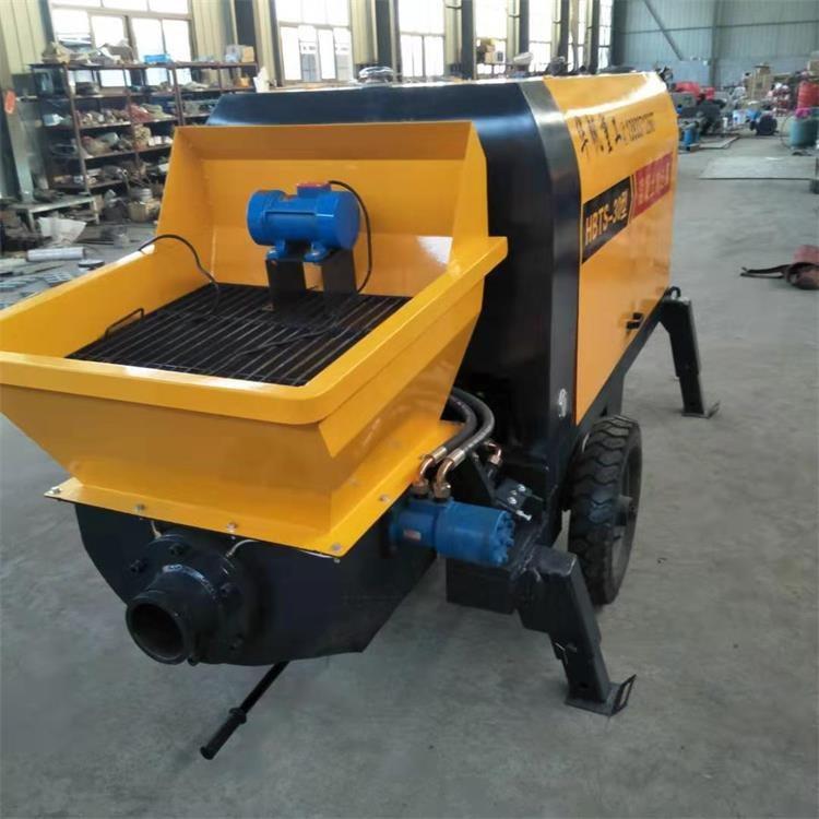 大颗粒输送泵 大型混凝土输送泵 液压细石砂浆泵 华帆直销细石混凝土输送上料机