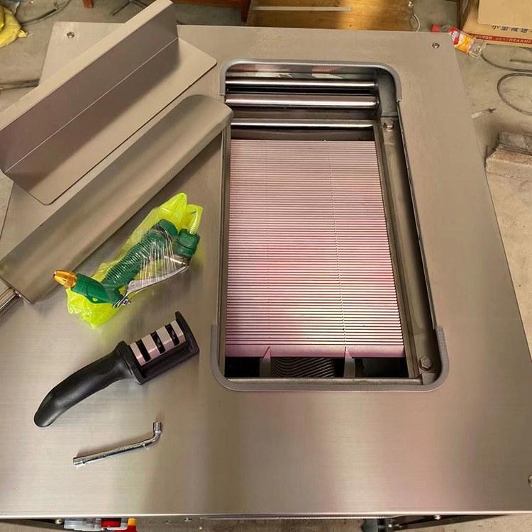 通亚机械 各种鱼类斜切鱼片机 高效节能斜切鱼片机 切肉机
