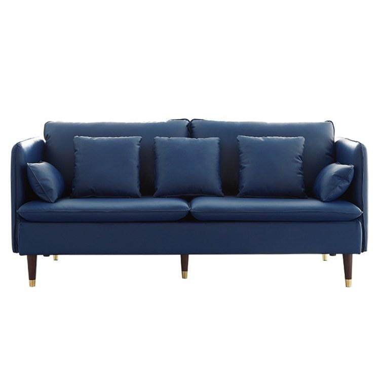 南京皮艺沙发客厅双人三人位办公家装组合家具皮沙发现代轻奢大小户型牛皮沙发公司
