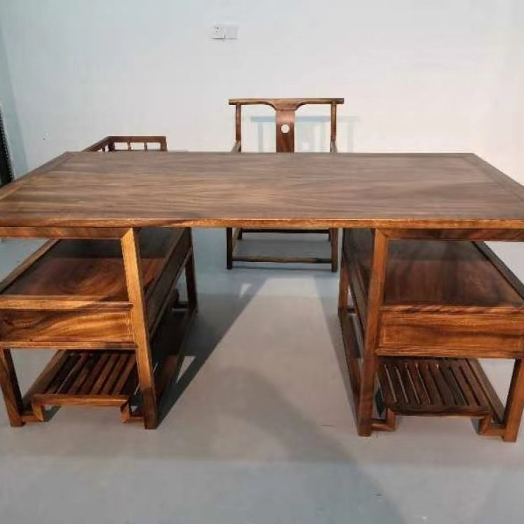 南美胡桃木新中式办公桌书桌一件
