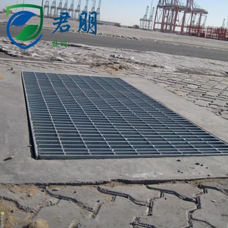 君朋热镀锌钢格板定制排水沟地沟格栅盖板