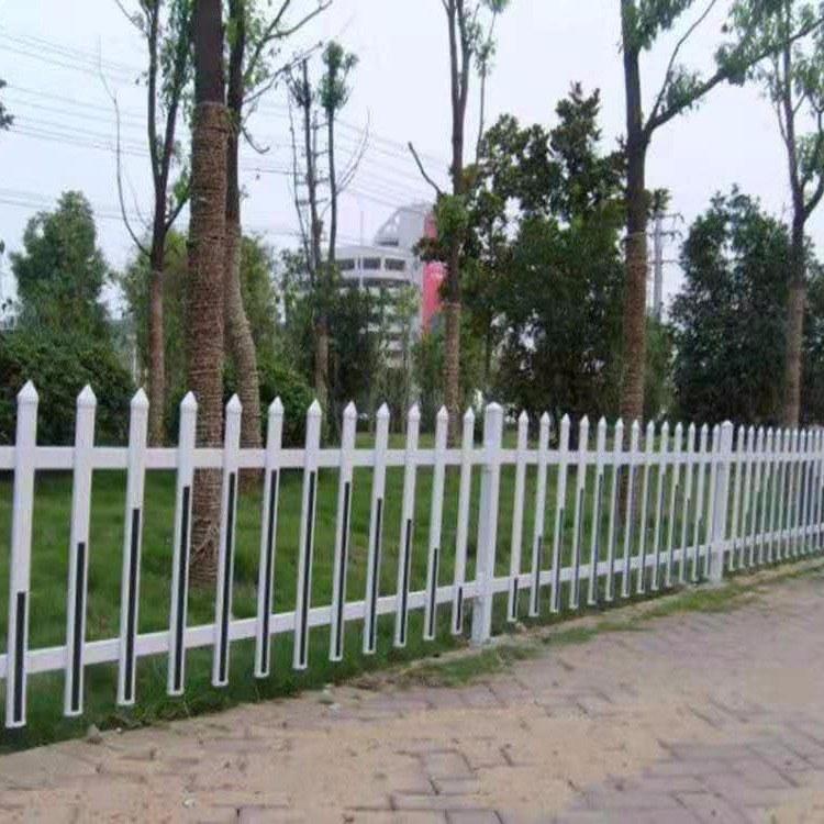 PVC 护栏围栏 草坪绿化花圃花园栅栏 庭院塑料花池户外篱笆 塑钢室外围栏