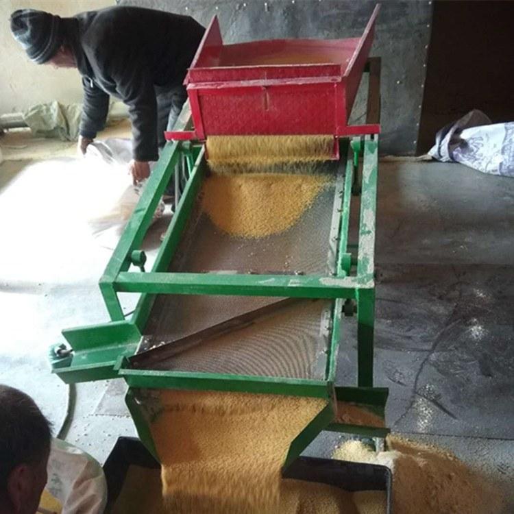 定做不锈钢筛面直线振动筛选机 高效耐腐蚀双层大豆除杂分选机