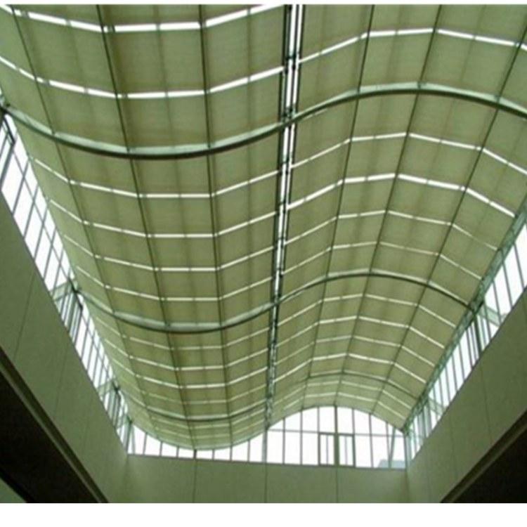 法国尚飞天棚厂家直销隔热遮阳帘专业楼顶电动折叠式天棚帘