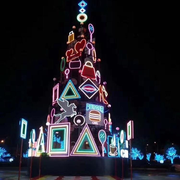 沫森大型圣诞树制作大型圣诞树出售源头厂家