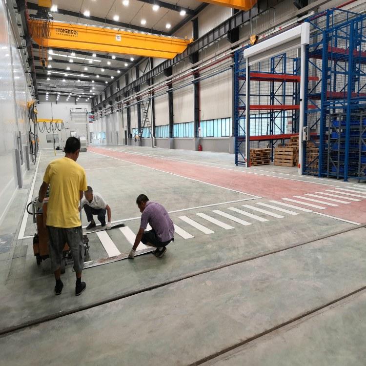 沙坪坝厂区划线 朝中建筑 工厂高速停车场道路划线