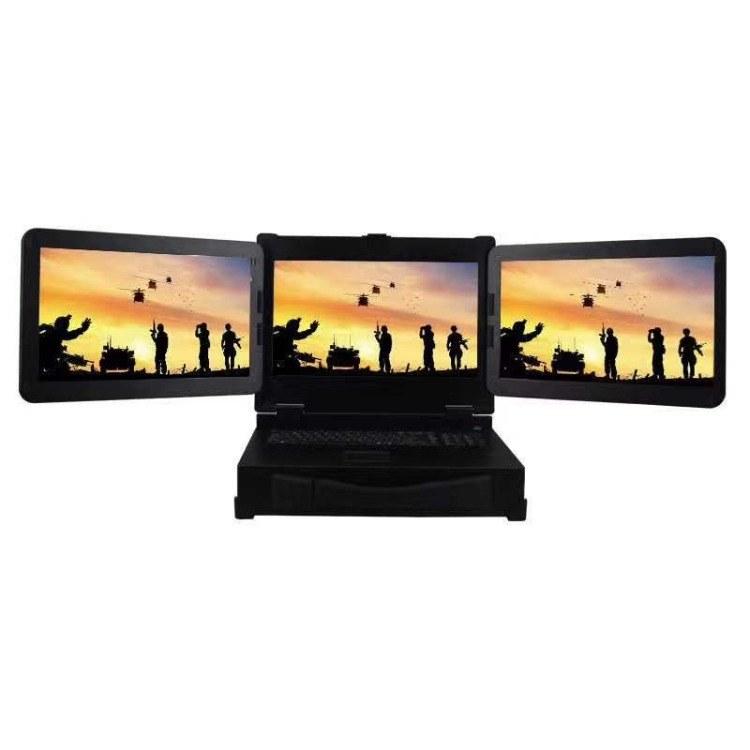 三屏加固笔记本 便携式三屏一体机 工控一体机定制