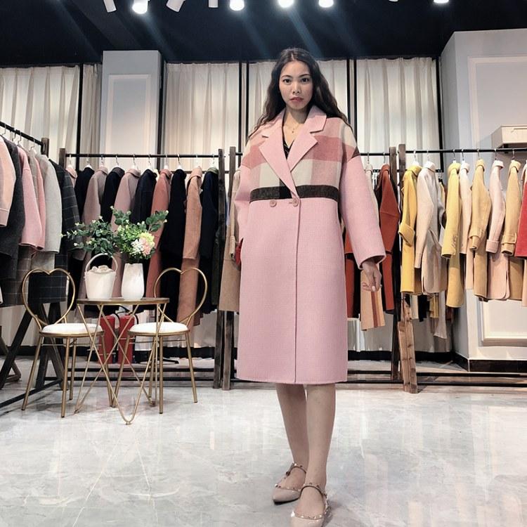 佳莉绮19年冬季新款羊绒大衣女 品牌折扣女装货源批发