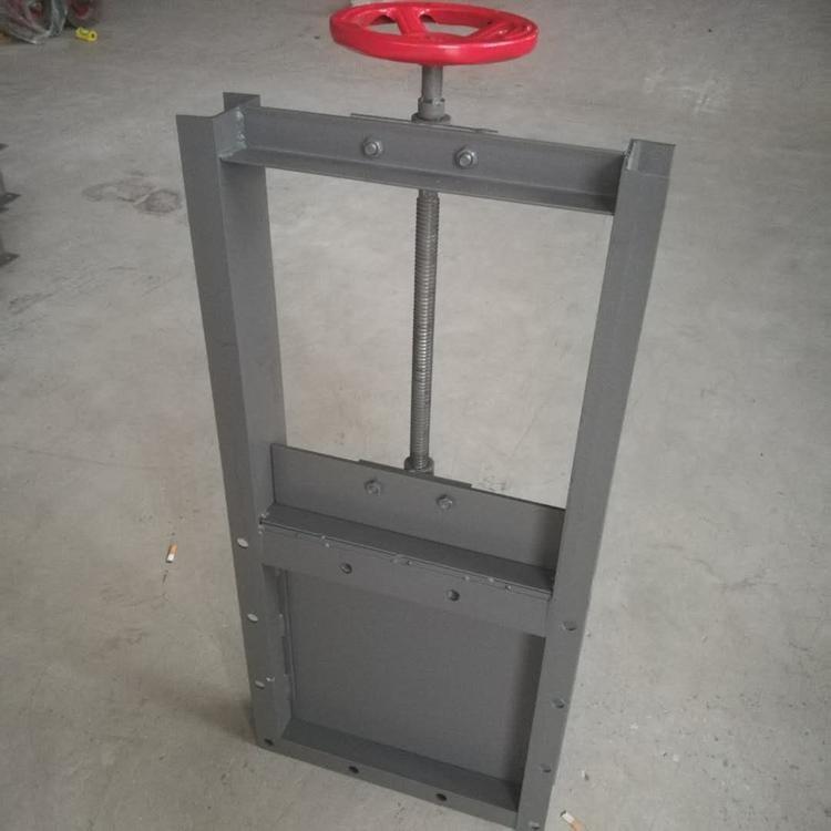 污水专用手动螺旋闸板阀 铸钢手动刀型闸阀 截止阀 DN300手动圆形插板阀