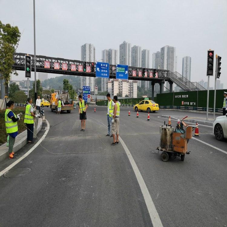 重庆停车场冷涂划线 朝中建筑 重庆冷涂划线