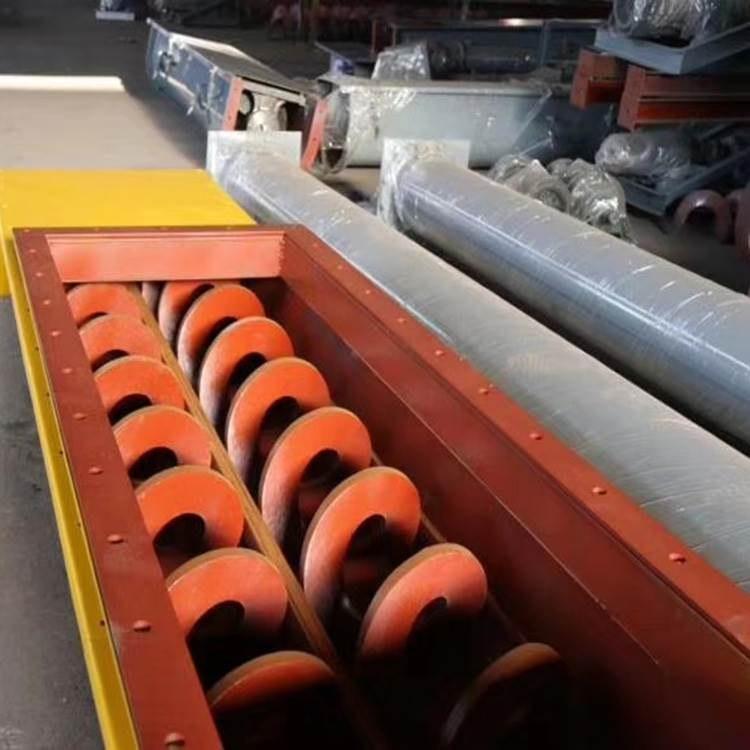 水泥厂双轴有轴螺旋输送机垃圾焚烧厂WLS型无轴螺旋输送机绞龙