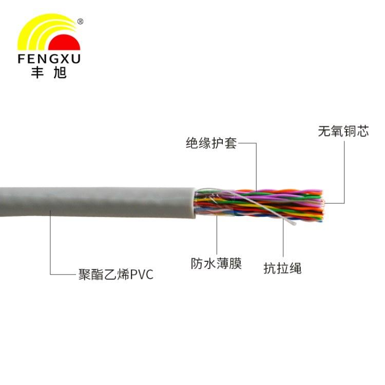 湖南丰旭厂家直售室内大对数25对通信电缆三类五类大对数无氧铜芯全强度高 HSYV支持定制