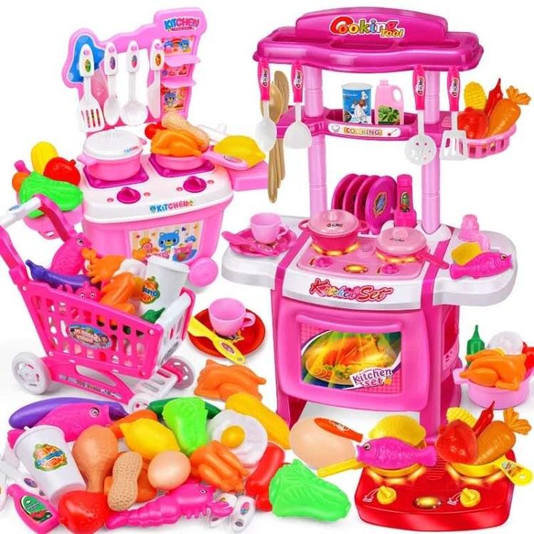 秤斤玩具批发 儿童过家家厨房玩具套装宝宝做饭仿真煮饭厨具女孩4-6岁5儿童变形机器人