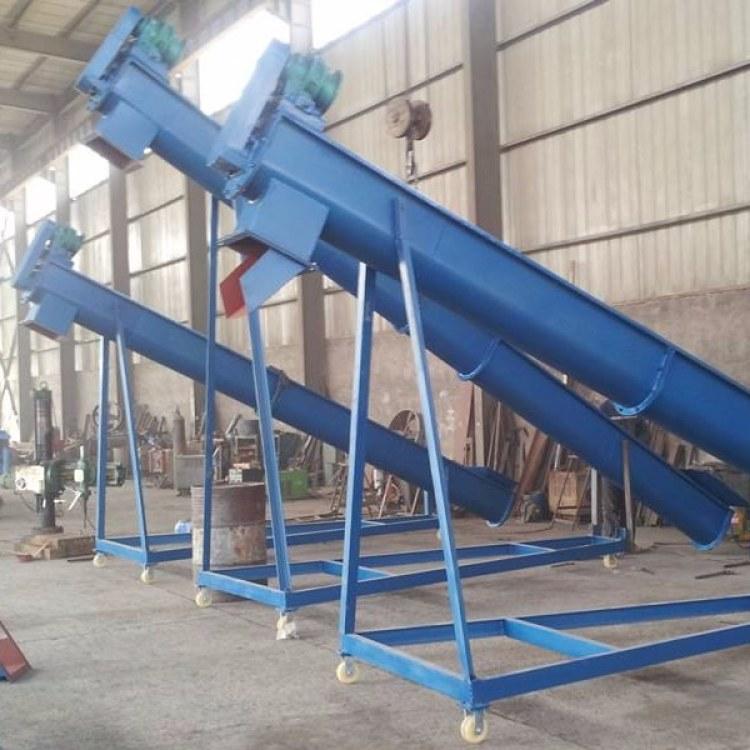 污泥专用无轴螺旋输送机 u型槽式螺旋输送机 管式上料机 WLS型无轴输送设备