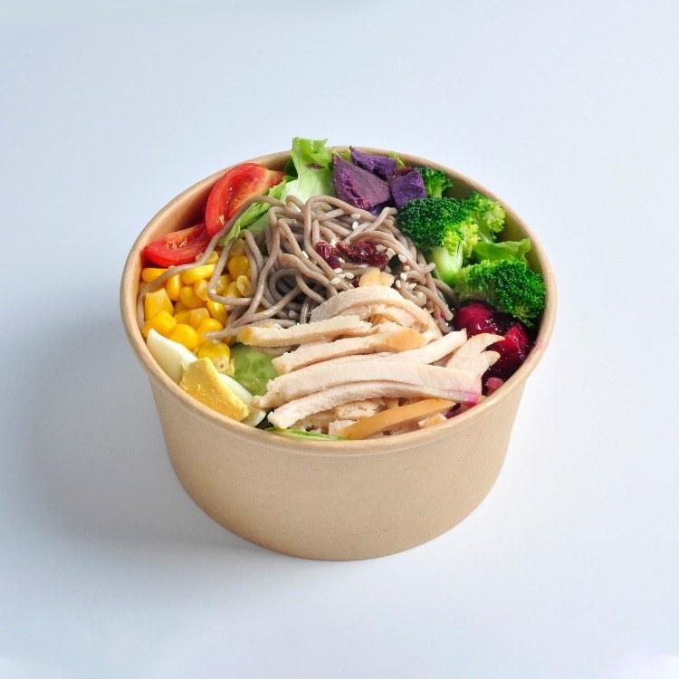 安徽盒小美一次性纸碗圆形定制餐具快餐外卖小吃碗打包盒汤桶