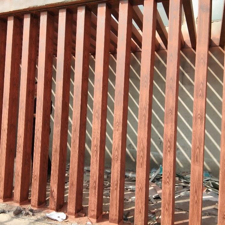 木纹漆施工  廊架木纹漆施工 ,金属木纹漆施工