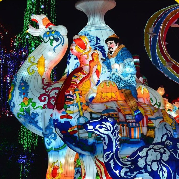 自贡江山月花灯灯会设计策划 定制大型春节元宵节彩灯灯展 梦幻灯光节造型