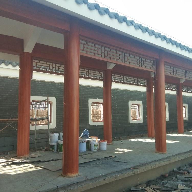 水泥圆柱木纹漆施工  圆柱木纹漆施工  廊架木纹漆施工