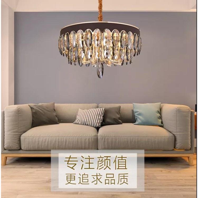 广州现代轻奢吊灯定制找顺爱装饰   网红推荐新品  低调奢华客厅大厅水晶灯具灯饰