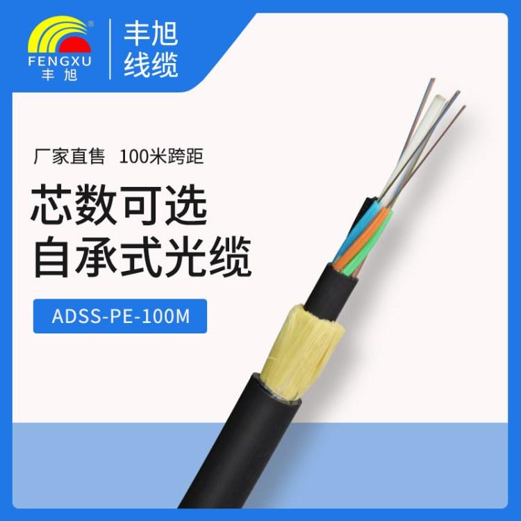 湖南丰旭厂家直销adss光缆室外非金属性自承式100跨距24芯12芯电力光缆