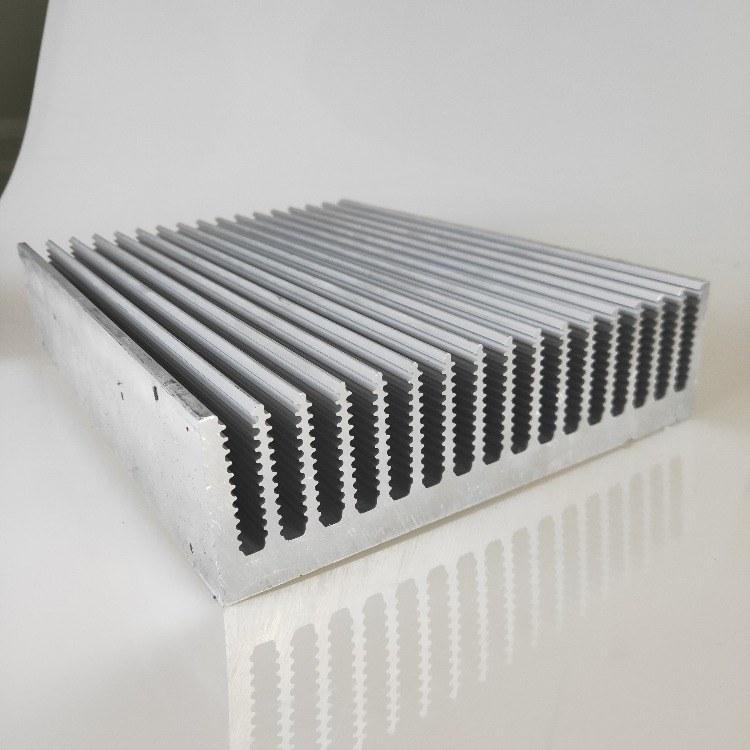 佛山铝型材大截面散热器 电子散热器开模挤压铝型材工业材料cnc加工定制