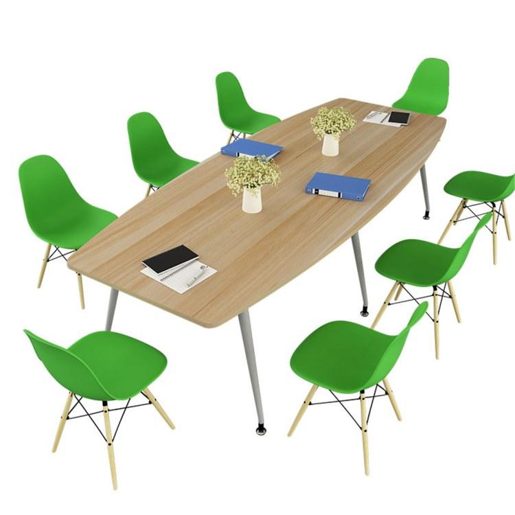 培训桌洽谈会客桌椅组合会议桌椭圆形长桌简约职员办公桌li江宁家具公司