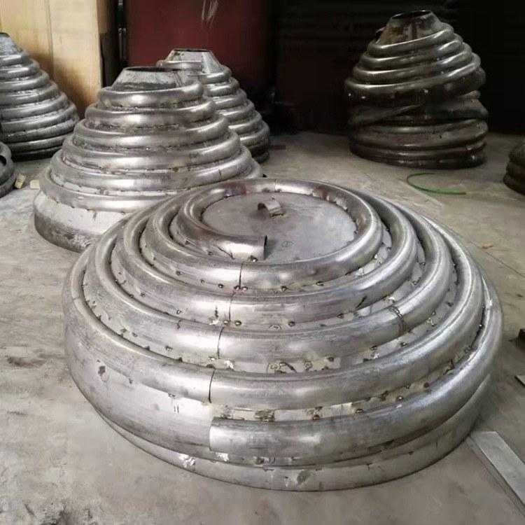 【天贤机械】封头外盘管压制 不锈钢蒸汽盘管弯制 各式大小规格半管盘管批发