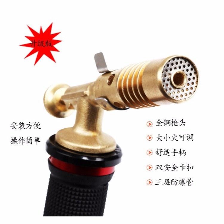 云南 特尔鑫牌 小型电子打火液化气喷火焊枪   家用全铜煤气焊枪  厂家直销