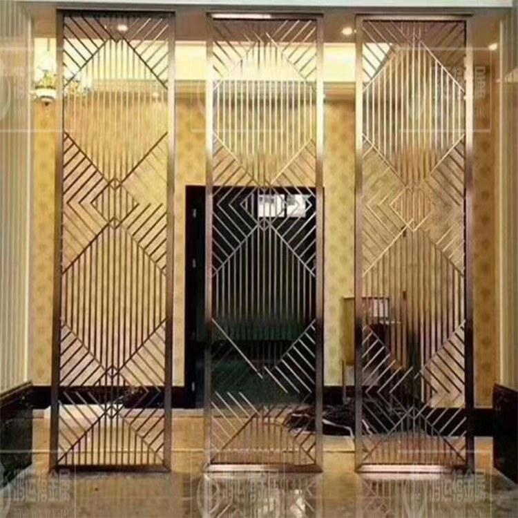 西藏不锈钢屏风定制酒店会所装饰  异形不锈钢制品