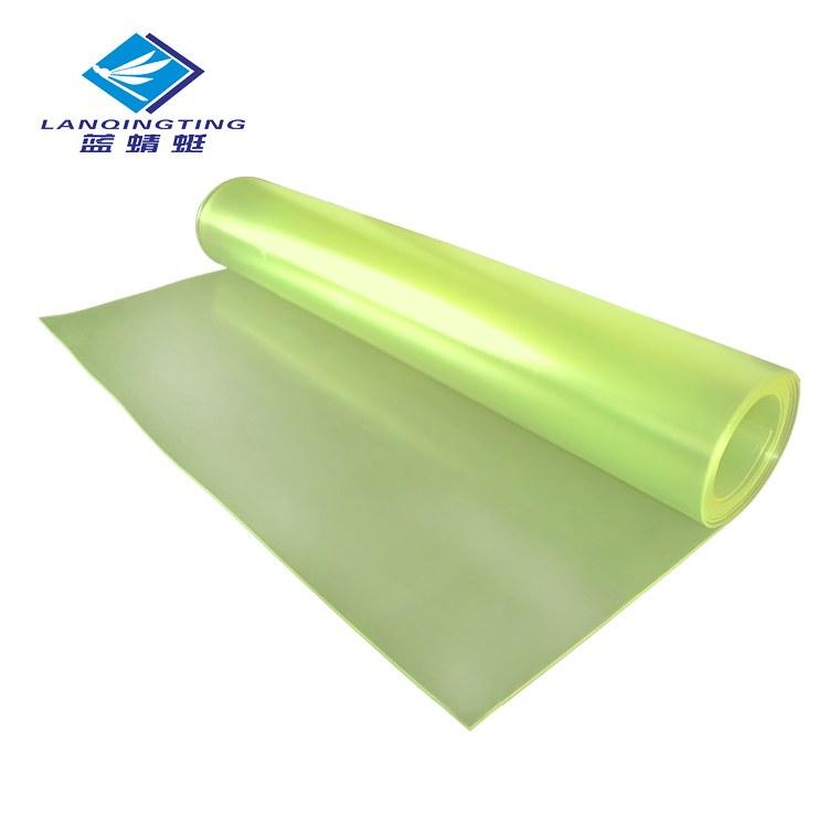 厂家直销减震黄色透明聚氨酯胶板耐磨pu优力胶板牛筋板加工定制