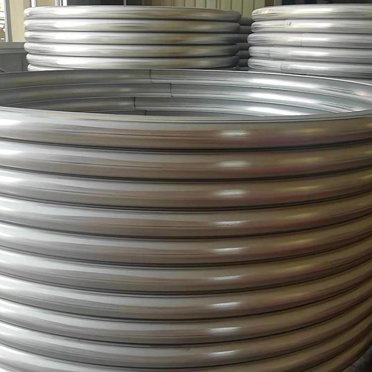 专业定制蒸汽加热内盘管 碳钢外盘管 碳钢弯管 封头碳钢外半管