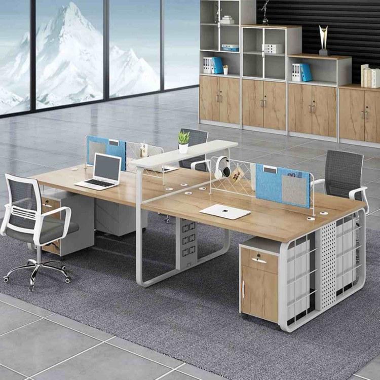 办公桌椅组合简约现代职员办工作桌四人位办公室桌子屏风双人桌办公桌