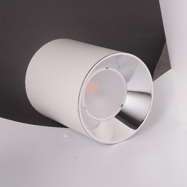 佛山柯迅照明厂家直销 明装圆形LED筒灯 办公简约装饰方形COB筒灯 店铺照明名牌