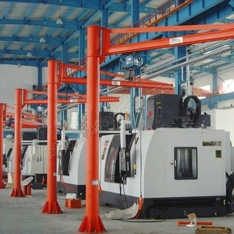 众人起重专业生产1吨小型立柱式悬臂吊 移动式旋臂吊