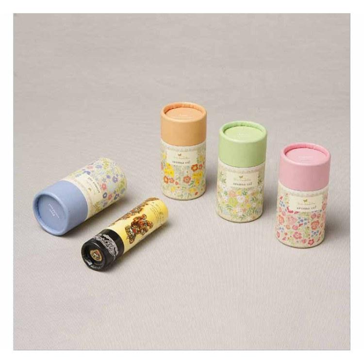 精油包装纸桶  圆形密封零食迷你茶叶罐  化妆品礼品牛皮纸筒