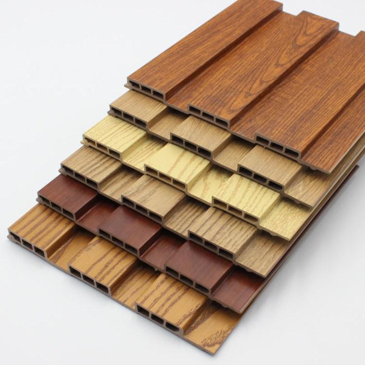 厂家直销 生态木吊顶150小长城板长城板 室内吊顶饭店墙裙护墙板