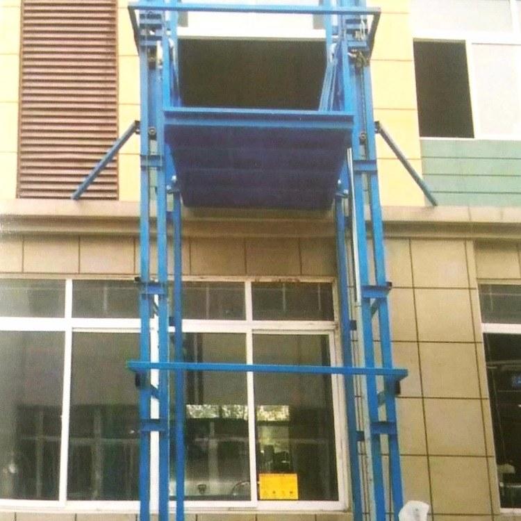 河南盛达生产液压导轨式升降平台 导轨式货物升降机