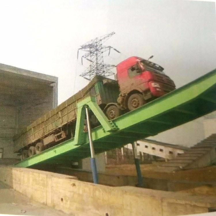 河南新乡盛达专业生产液压翻板卸车机 后翻式液压卸车平台