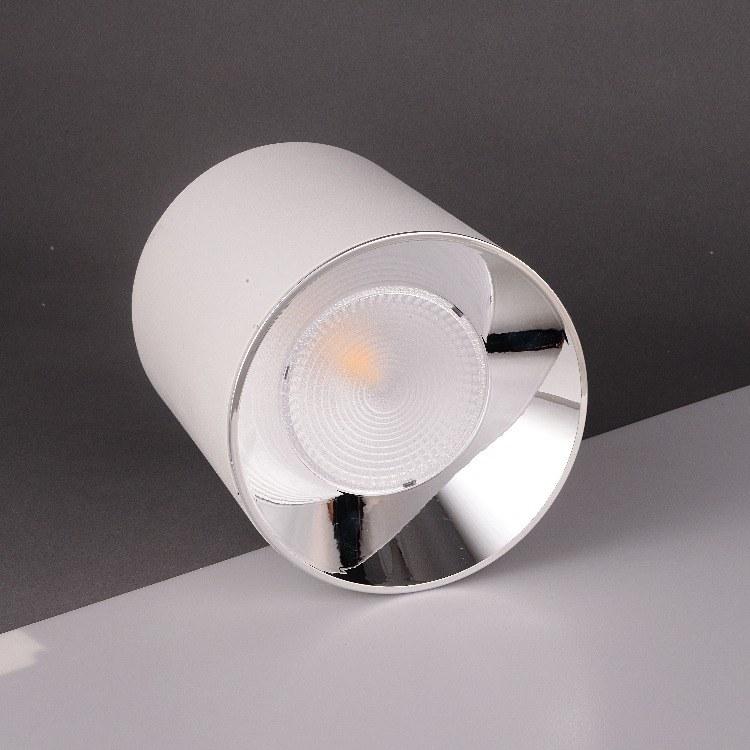 佛山柯迅照明厂家直销 明装圆形LED筒灯 办公简约装饰方形COB筒灯