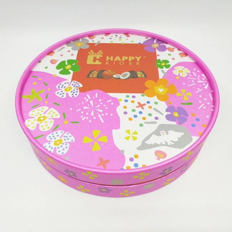 礼品圆筒包装纸盒 圆形花盒礼品饰品盒 创意牛皮纸茶叶纸罐定做
