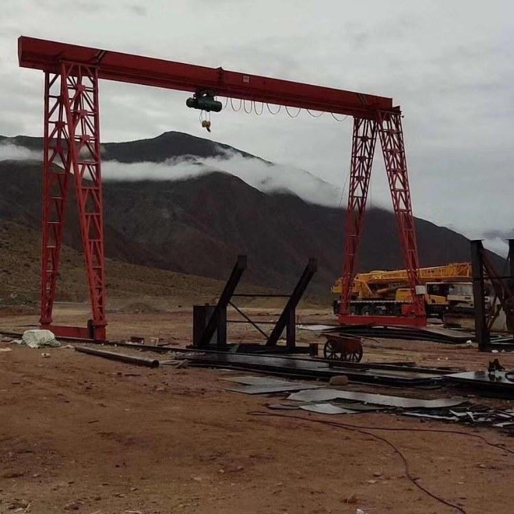 新疆和田地区电动葫芦单梁欧式龙门起重机